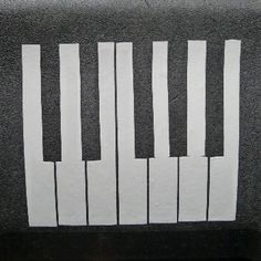 Decorative Duct Tape Piano Keyboard