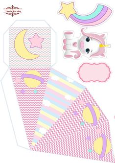 Baby Unicorn, Unicorn Party, Cars Birthday Parties, Birthday Party Invitations, Scrapbook Box, Baby Shower Crafts, Crochet Hair Accessories, Unicorn Cupcakes, Paper Crafts