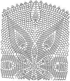 Схема вязания ажурной салфетки крючком