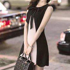 Buy Jolly Club Color-Block Sleeveless Dress at YesStyle.com! Quality products at remarkable prices. FREE WORLDWIDE SHIPPING on orders over US$�35.