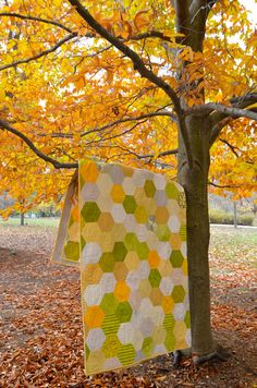 Honeycomb quilt. Looks hard, but maybe someday