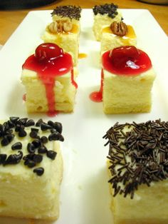 plain #cheesecake with various toppings #kaf