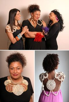 Australian Faces- Various hand woven pieces by Maryann Talia Pau for her Mana Couture range.