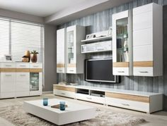 fernseher-wand-montieren-wohnzimmer-holz-wandverkleidung-led, Mobel ideea
