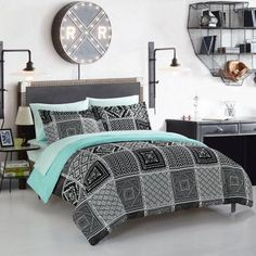 Your Zone Tala Mint Aztec Bed in a Bag
