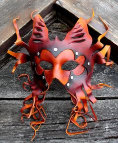 Cthulhu's Minion  Handmade Leather Mask by MisfitLeather on Etsy, $125.00