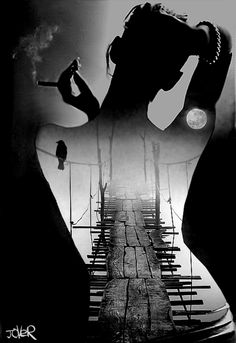 """""""bridge to the soul"""" collage by Loui Jover #mixed #media"""