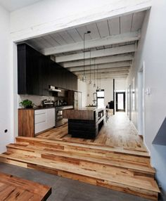 . #Loft space. A beautiful #modern touch in a cool mix of #wood.