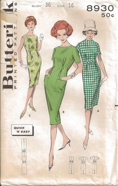 Simplicity 1406 - Vintage Sewing Patterns