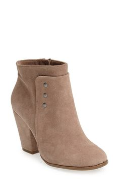 Sole Society 'Erlina' Leather Ankle Bootie (Women) available at #Nordstrom- This style and ankle heigh could be great for skinny pants/leggings for a dressier outfit. (In black leather)
