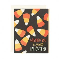 Send this Sweet Candy Corn Halloween Card to anyone in the world in just a few minutes! We'll mail this illustrated Halloween card for you! Halloween Wishes, Halloween Gifts, Happy Halloween, Diy Halloween Cards, Halloween Ideas, Halloween Candy, Halloween Outfits, Halloween Illustration, Fall Cards