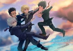 (HxH - Reunion x Sky by akayashi) I can so see this happening... and I know you guys can too!!!...No, but really, why can't this happen in the anime/manga? I mean, I really want them together again!!.... Like seriously, just let them reunite already!!