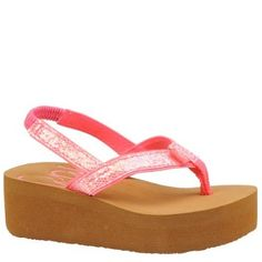 6e531f818e9c Roxy TW Glitz Thong Sandal (Toddler) Roxy.  23.95. Manmade sole. Glittery  poly straps with poly web toe post. Soft