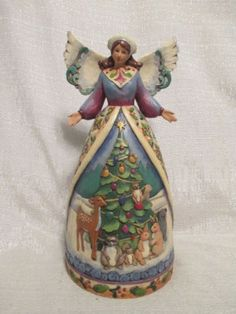 Jim-Shore-Christmas-For-All-Great-And-Small-Angel-Woodland-Animals-4007932