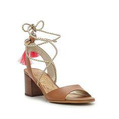 "Sam Edelman ""Shani"" Leather Sandal with Beaded Tassels"