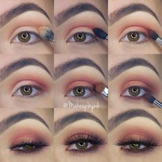 """Nikki Libra on Instagram: """"I had my camera on the wrong setting so the lighting is a little off But here is my step by step I promised you from the look I posted earlier using the @morphebrushes 35O palette! Since there are not names on the shadows it's hard to write the steps down! All brushes used are @morphebrushes! In step 4 I used the @nyxcosmetics Milk Jumbo Pencil on my lid before putting shadow on it! The liner on my inner waterline is @stilacosmetics Sienna!"""