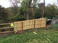 6'high dog ear treated wood fence