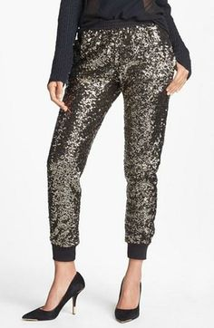 Sequined track pants - amazing!