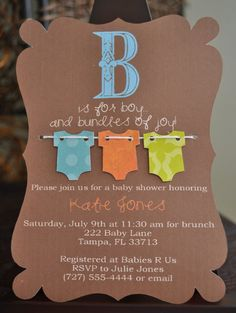 Handmade shower invitation