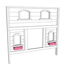 Ana White | Sweet Peak Garden Bunk Bed Shutters and Window Boxes - DIY Projects
