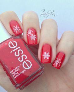 lackfein snowflakes #nail #nails #nailart