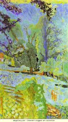Pierre Bonnard. Landscape in Normady. 1920. Oil on canvas. Musee d'Unterlinden, Colmar, France