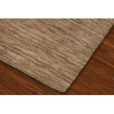 Tonal Solid 100% Wool Area Rug - Taupe (8'x10')
