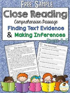 Learning how to find the evidence to prove answers can greatly improve students' reading comprehension and test scores!       This free re...