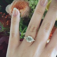 http://rubies.work/0146-ruby-rings/ Custom Art Deco Inspired Anna Sheffield Emerald Cut Engagement Ring