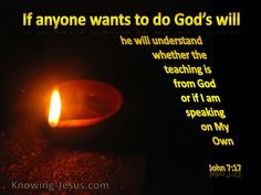 John 7:17 Knowing The Will of God (gold)