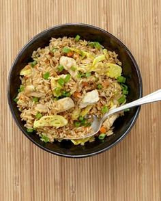 Japanese Fried Rice - excellent, this is a keeper. Remember: don't have a wok so cooking times are longer than the 2 minutes suggested