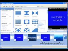 cum se face un film sau un slide show cu windows movie maker - YouTube