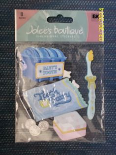 """New """"Jolee's Boutique"""" Brand Embellishments BABY'S 1ST TOOTH 8 Pcs. Set SPJB385"""