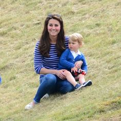 George was the centre of attention this afternoon with his mother The Duchess of Cambridge...