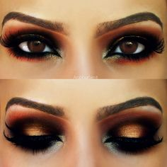 Gold and red arabic makeup look https://www.makeupbee.com/look.php?look_id=89378