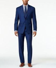 Michael Michael Kors Blue Birdseye Classic-Fit Suit - Blue 38S