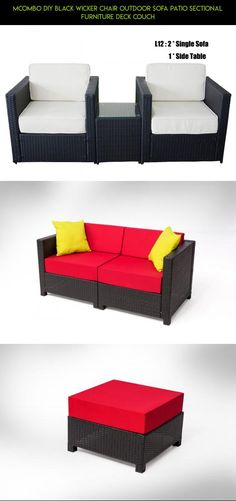 MCombo DIY Black Wicker Chair Outdoor Sofa Patio Sectional Furniture Deck Couch #camera #parts #l #fpv #racing #drone #kit #gadgets #furniture #products #shopping #patio #technology #tech #plans