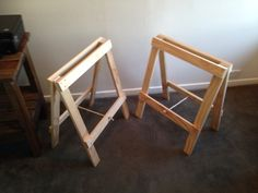 Easy Trestle Legs / Stands or sawhorse ! Cost to build $40