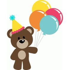 Welcome to the Silhouette Design Store, your source for craft machine cut files, fonts, SVGs, and other digital content for use with the Silhouette CAMEO® and other electronic cutting machines. Birthday Clips, Art Birthday, Happy Birthday Messages, Birthday Wishes, Free Svg, Diy And Crafts, Paper Crafts, Tatty Teddy, Teddy Bear
