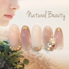 Pink mauve gold tip crystal nails Crazy Nails, Fancy Nails, Love Nails, How To Do Nails, Gem Nails, Hair And Nails, Bridal Nails, Wedding Nails, Gorgeous Nails