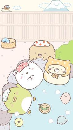 Wallpaper Kawaii, Soft Wallpaper, Sanrio Wallpaper, Cute Wallpaper For Phone, Iphone Wallpaper, Framed Wallpaper, Cute Kawaii Animals, Kawaii Cute, Kawaii Drawings