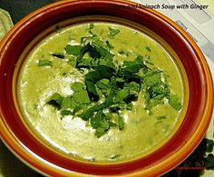 A comforting soup – Creamy Spinach and Potato Soup with Ginger