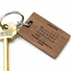 Personalised 'The Day You Became My…' Keyring Father's Day