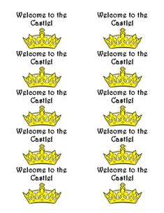 Labels for Avery 48363.  These are great for a castle themed classroom.  You can use them for lots of different things.  I used them on plastic cup...