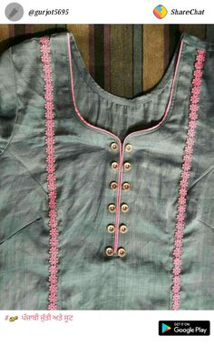 Women's kurtis online: Buy stylish long & short kurtis from top brands like BIBA, W & more. Explore latest styles of A-line, straight & anarkali kurtas. Chudidhar Neck Designs, Neck Designs For Suits, Designs For Dresses, Blouse Neck Designs, Salwar Suit Neck Designs, Kurta Neck Design, Kurta Designs Women, Embroidery Suits Design, Kurti Designs Party Wear