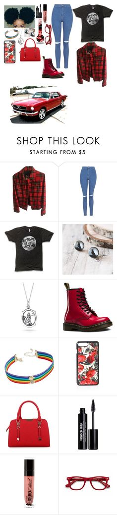 """Outfit"" by gabymyredis ❤ liked on Polyvore featuring Dolce&Gabbana, Topshop, Bling Jewelry, Dr. Martens, INC International Concepts, Edward Bess and EyeBuyDirect.com"