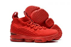 b06621ad9fc20 2018 Nike LeBron 15 Mens Basketball Shoes Varsity Red Black