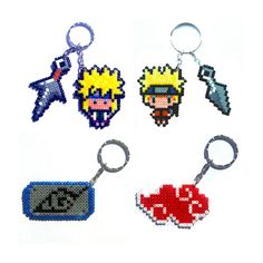 Naruto sprites keychain brooch magnet... by FreakCreations on Etsy