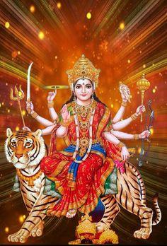 Navratri Puja will help you overcome all your negativities. Flourish with wealth on this Navratri by offering Homam to Lakshmi, Saraswathi & Durga. Durga Images, Hanuman Images, Durga Ji, Durga Goddess, Kali Hindu, Hindu Art, Maa Durga Hd Wallpaper, Nature Wallpaper, Navratri Puja