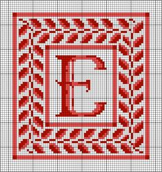 Monogram Frame Pattern: Needlepoint Monogram Frame Full-Color Pattern